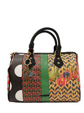 Schicke Desigual Handtasche Tasche Schultertasche Bols Lola Patch Bowling, NEU