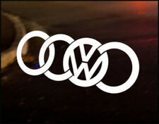 VW AUDI LOGO, Car Decal Vinyl JDM Sticker Golf Dub Euro Polo Camper T4 T5