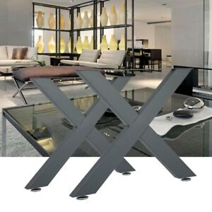 2PC Solid Metal X-shaped Table Legs Cross Legs Furniture Legs Dining/Living Room