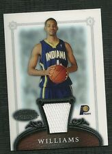 SHAWNE WILLIAMS 06-07 BOWMAN STERLING ROOKIE WORN JERSEY INDIANA PACERS