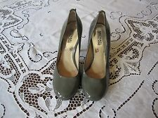 Michael Kors Patent Leather Grey Stilettos Size 7 M