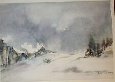 Aquarell auf Büttenpapier, Seiseralm, Alpe de Siusi, unbek. Maler