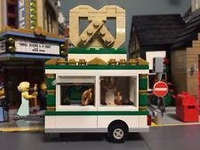 Custom Lego hot pretzel cart / food truck for city / modular w/ minifigure