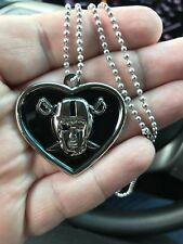 "Raiderette Raiders necklace 24""-Oakland Raiders Las Vegas Raiders-made in USA"