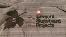 ELEMENT, Men's Button-down Casual Stylish skateboard projects shirt Size Small.