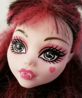 MONSTER HIGH DOLL MUSIC FESTIVAL DRACULAURA HEAD ONLY FOR REPLACEMENT OR OOAK