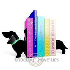 Really Long Sausage Dog Bookends Book Ends End Books Holder Hold Prop Up Stand