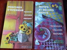 2 VOLUMES Peintures d'intérieur nuances textures +++ Motifs et décors peints