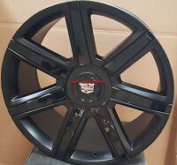 22 Wheels Pirelli AS Tires Platinum New Style Rims Black Cadillac Escalade ESV