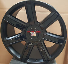22 Wheels Platinum Style Rims Black insert Fit Cadillac Escalade EXT ESV GMC