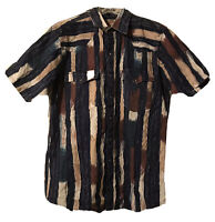 Authentic Western Youngbloods Pearl Snap Button Down Shirt Mens Sz M Medium S/S
