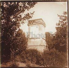 Hendaye île des Faisans Plaque de verre stéréo Positive Vintage