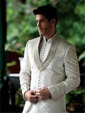 Indian Traditional Embroidery Wedding Party Wear Grooms Designer Sherwani Pajama