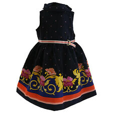 Janie And Jack Floral Scarf Border Dress