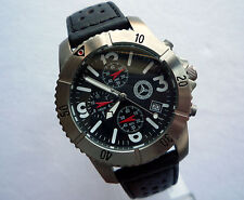 Mercedes Benz Classic Aviator Titanium Car Accessory Sport Watch Chronograph
