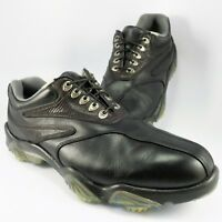FootJoy SYNR-G Golf Shoe Mens Size 10M Black Leather OPTIFLEX 2 Champ Soft Spike