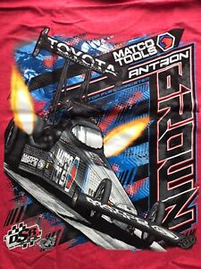 """NHRA DRAG RACING """"TOP FUEL CHAMP"""" ANTRON BROWN Red T- SHIRT  SIZE 3X"""