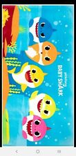 BABY SHARK BEACH TOWEL 28in x 58in PINK FONG NEW!