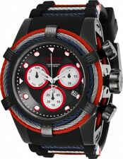 Invicta Men's 27145 Bolt Quartz Chronograph Black White Red Dial Watch