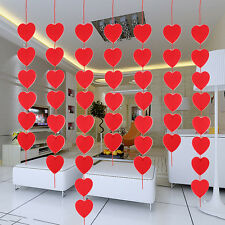 3 M Bunting Banner Red Love Heart Paper Garland Home Wedding Party Decorations