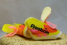 BARBIE DOLL & FAMILY REEBOK CLOTH SNEAKERS OPEN TOE YELLOW & RED F60
