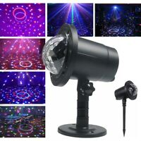 LED Laser Projector Light Moving Stage Lamp Sound Remote Garden Christmas Decor