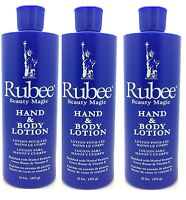 Rubee Beauty Magic Hand & Body Lotion 16Oz 453 g (Pack of 3)