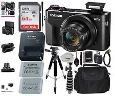 Canon PowerShot G7X Mark II 20.1 MP Compact Digital Camera - Black (bundle)