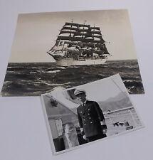 Großfoto Schulschiff Kaiwo-Maru (1930) Widmung Kaiptän Kitagawa 1961 an Luckner