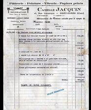 """SAINT-AMAND-MONTROND (18) PLATRERIE PEINTURE VITRERIE """"Camille JACQUIN"""" en 1946"""