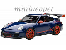 AUTOart 78144 PORSCHE 911 997 GT3 RS 3.8 1/18 BLUE with RED STRIPES & RED WHEELS