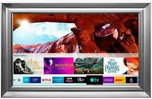 "Samsung 50"" 4K Framed Mirror TV Ultra HD HDR Smart LED TV/ Silver Spoon Frame"