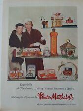 1956 Prince Matchabelli perfume products for Christmas vintage color ad