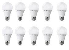 STOCK 10pz LAMPADINA LED 220V E27 12W LUCE FREDDA 6000K FOTOVOLTAICO LAMPADA TOP