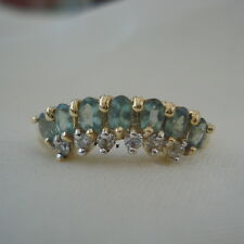 0.84ct Certified Natural Alexandrite & Zircon Gold Band Ring