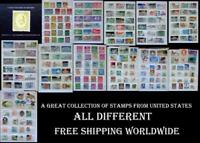 A Great Collection Of Stamps From United States, All Different, Free Shipping