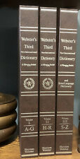 COMPLETE 3 VOLUME SET Websters Third New International Dictionary Unabridged