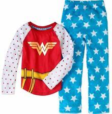 Justice League Wonder Woman Pajamas 2 Piece 4 5 6 7 8 10 12 Child Sleepwear New