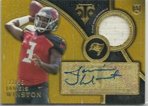 2015 Topps Triple Threads JAMEIS WINSTON ROOKIE Gold Autograph Auto Patch 23/25