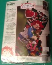 RARE Bucilla Christmas Felt Raggedy Ann Felt CHRISTMAS MORNING Stocking Kit