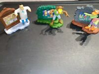 2001-2002 Burger King Toys The SIMPSONS Treehouse Of Horror Halloween Lot Of 3