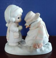 "Enesco ""We're Going To Miss You"" Snowman Precious Moments 1990"