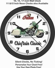 2019 INDIAN CHIEFTAIN MOTORCYCLE WALL CLOCK-Choose 1 of 4 models