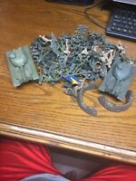 Lot of 80 + Plastic Army Men Toy Soldiers, Tanks, Planes Accessories Flags