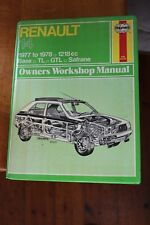 Renault 14 1977 to 1978 1218cc Haynes workshop Manual 362 Base,TL GTL Safrane