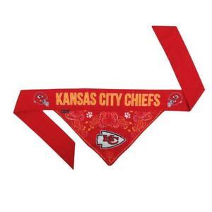Kansas City Chiefs Pet Reversible 2 Sided Design Paisley Bandana Scarf