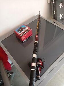 Schöne Angelruten DAM ALLROUND C60 ,3,80 m, 30- 60 gr, (neu).mit Rolle DAM QUICK