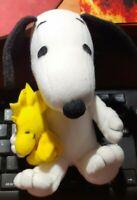 1 PELUCHE VINTAGE FERRERO THE PEANUTS COMICS PLUSH DOG CANE SNOOPY con WOODSTOCK