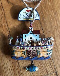 Jim Shore Noahs Ark Ornament Heartwood Creek 2006 New