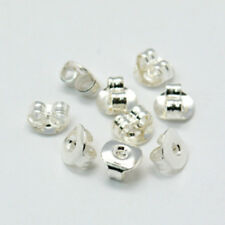 200 (100prs) Platinum Colour Earnuts 5mm Wide, 5mm Long. (BOX62)*